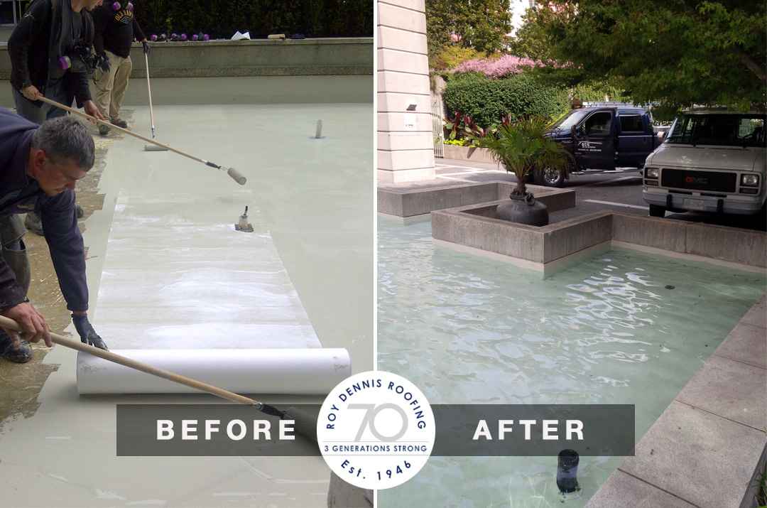 Commercial Pond Liner Restoration – Beach Ave – Vancouver
